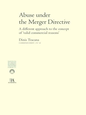 cover image of Abuse under the Merger Directive