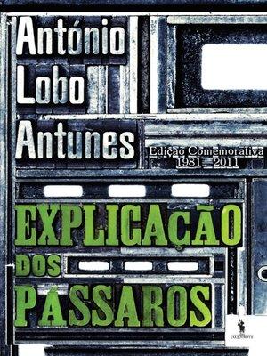 cover image of Explicação dos Pássaros