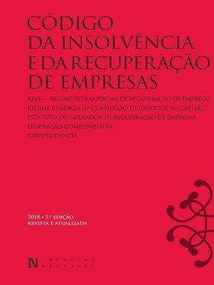 cover image of Código Da Insolvência E Da Recuperação De Empresas--3.ª Edição