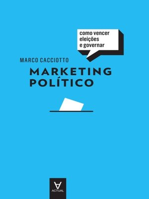 cover image of Marketing Político--Como Vencer Eleições e Governar