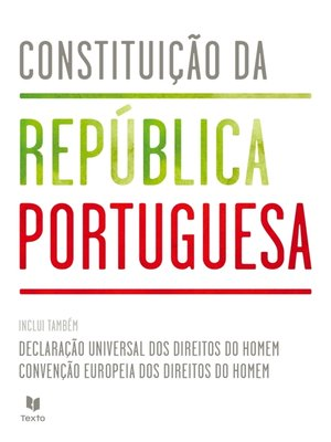 cover image of Constituição da República Portuguesa