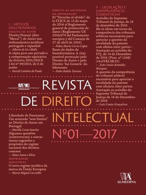 cover image of Revista de Direito Intelectual n.º 1--2017