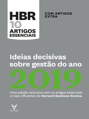 cover image of Ideias decisivas sobre gestão do ano 2019