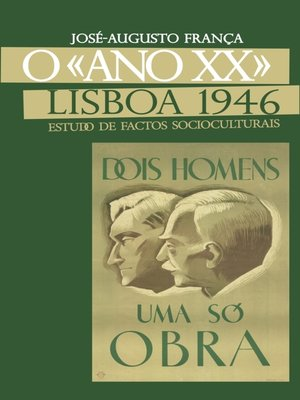 cover image of O «Ano XX» Lisboa 1946--Estudos de Factos Socioculturais