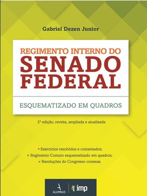 cover image of Regimento interno do Senado Federal esquematizado em quadros
