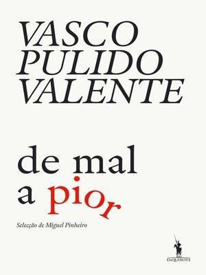 cover image of De Mal a Pior