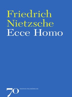 cover image of Ecce Homo