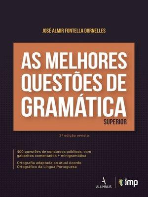 cover image of As melhores questões de gramática