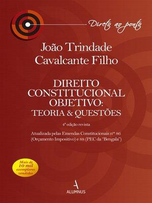 cover image of Direito Constitucional Objetivo