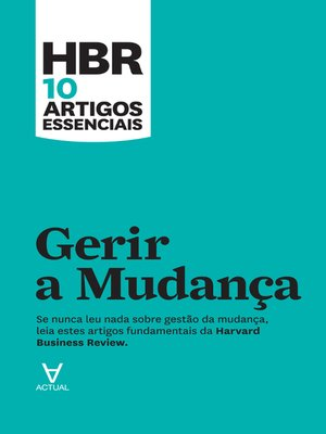 cover image of Gerir a Mudança