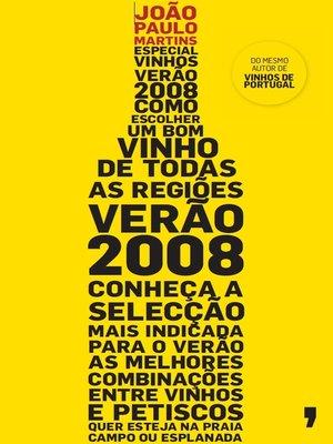 cover image of Especial Vinhos Verão 2008