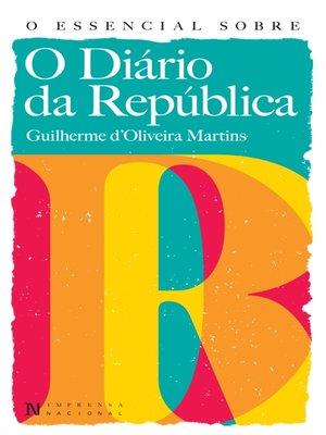 cover image of O Essencial Sobre o Diário da República