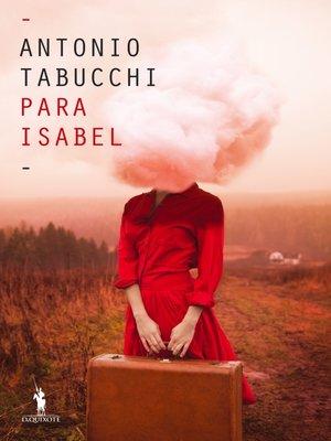 cover image of Para Isabel. Um mandala