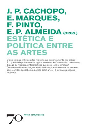 cover image of Estética e política entre as artes