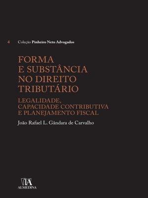 cover image of Forma e Substância no Direito Tributário