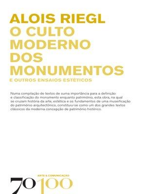 cover image of O Culto Moderno dos Monumentos