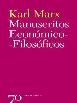 cover image of Manuscritos Económico-Filosóficos