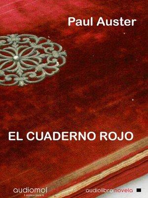 cover image of El cuaderno rojo