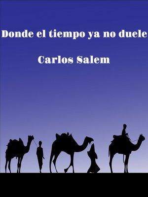cover image of Donde el tiempo ya no duele