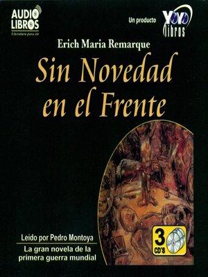cover image of Sin Novedad en el Frente