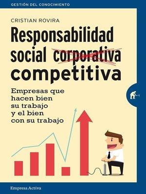 cover image of La responsabilidad social competitiva