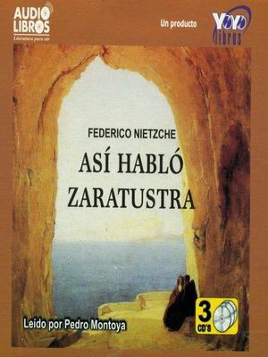 cover image of Asi Hablo Zaratustra