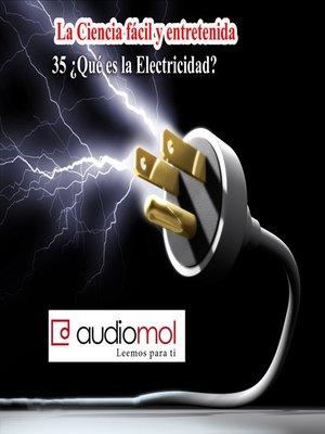 cover image of Ciencia y electricidad