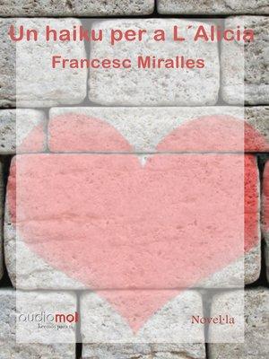 cover image of Un haiku per a L'Alicia