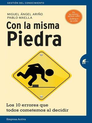 cover image of Con la misma piedra