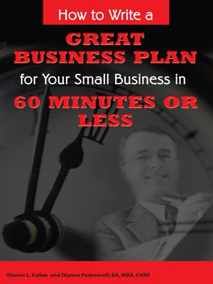 how to write a small business plan sample