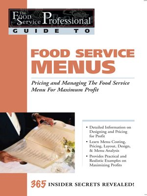 cover image of the food service professional guide to food service menus