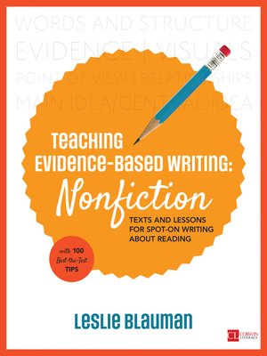 cover image of Teaching Evidence-Based Writing: Nonfiction