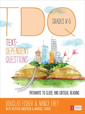cover image of Text-Dependent Questions, Grades K-5