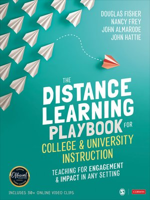 cover image of The Distance Learning Playbook for College and University Instruction
