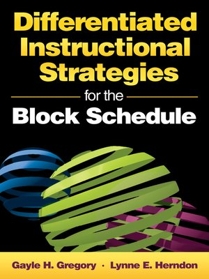 Differentiated Instructional Strategies For The Block Schedule By
