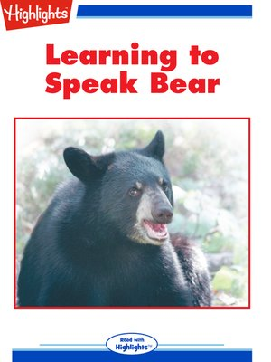 cover image of Learning to Speak Bear