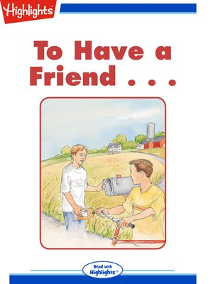 cover image of To Have a Friend