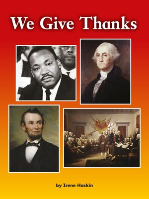cover image of We Give Thanks