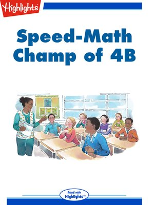 cover image of Speed Math Champ of 4B