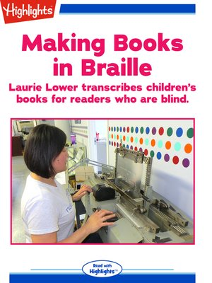 cover image of Making Books in Braille