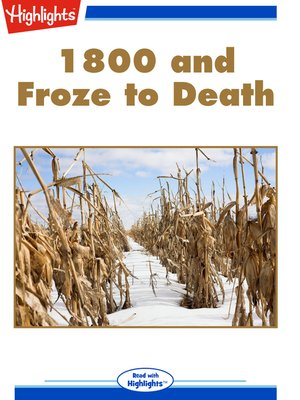 cover image of 1800 and Froze to Death