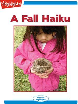 cover image of A Fall Haiku