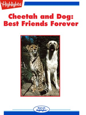 cover image of Cheetah and Dog: Best Friends Forever