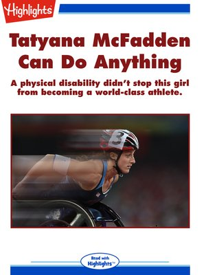 cover image of Tatyana McFadden Can Do Anything