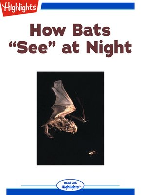 "cover image of How bats ""see"" at night"