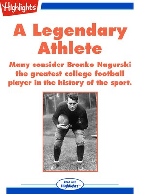 cover image of A Legendary Athlete