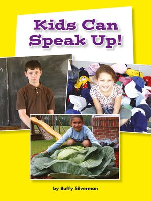 cover image of Kids Can Speak Up!