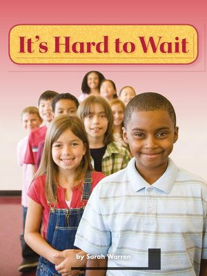 cover image of It's Hard to Wait