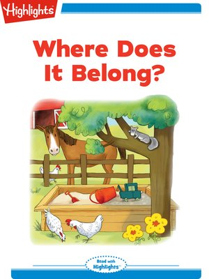 cover image of Where Does It Belong?