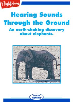 cover image of Hearing Sounds Through the Ground